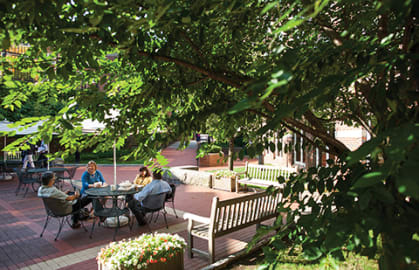 Outdoor Study Session courtyard HBS Executive Education complex