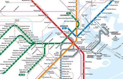 MBTA map, concierge