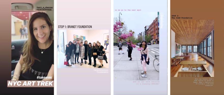 Instagram Takeover - Arts Society Trek in NYC