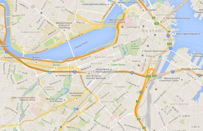 Boston map, concierge