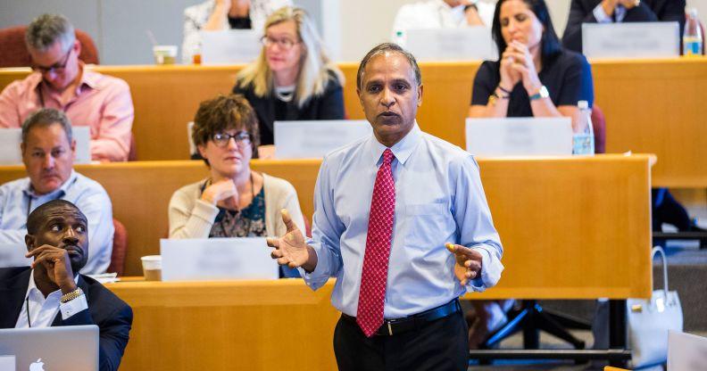 Krishna G. Palepu giving lecture