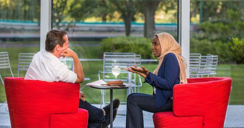 Harvard Business School executive education participants discussion