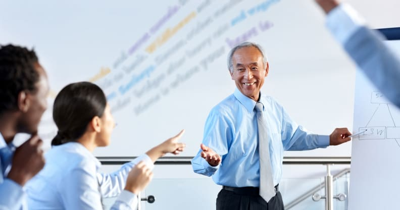 Executives engage in group learning