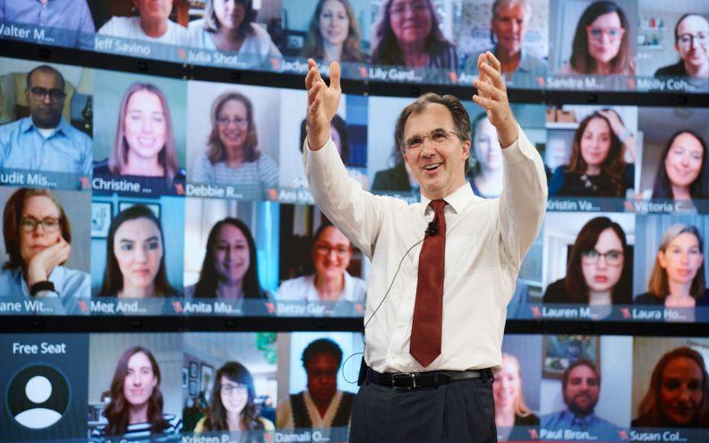 General Management Program Virtual Harvard executive education classroom