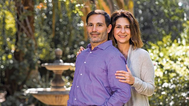 Andreas Stavropoulos (MBA 1997) and Christy Dosiou