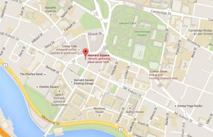 Harvard Square map, concierge