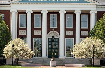 Organizations topic image, Baker Library façade, HBS campus
