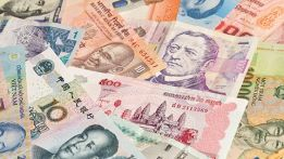 paper money from various countries
