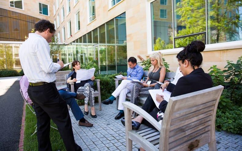 Harvard executive education participants outside