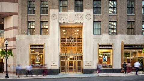 First Republic Bank facade on 5th Avenue NY, NY