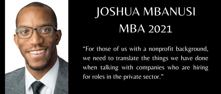 Building the Bridge from Nonprofit to VC with Joshua Mbanusi (MBA 2021)