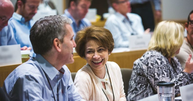 participants in classroom discussion