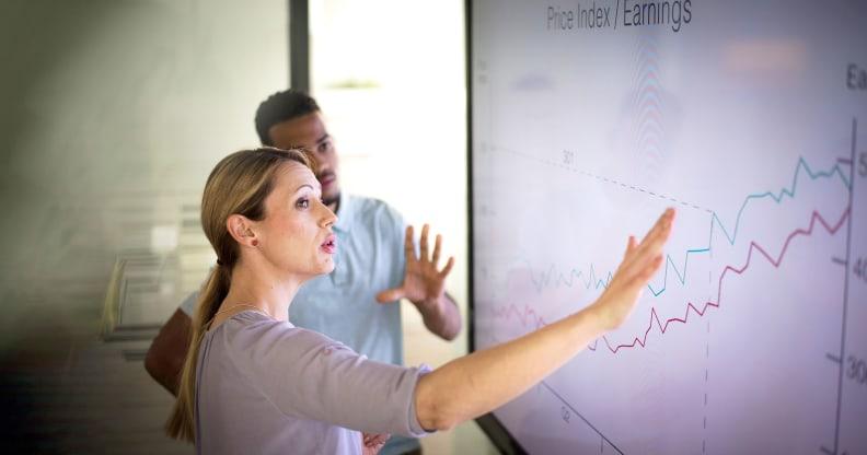 Executives discuss financial data