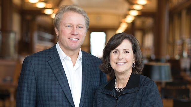Kent Thiry and Denise O'Leary (both MBA 1983)